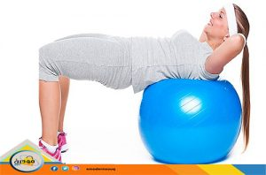 تمرين الكرة لتخسيس الكرش والبطن